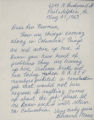 Letter, May 27, 1963, Bernard Moore to I. D. Newman