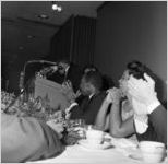 Martin Luther King, Jr. at his Nobel Peace Prize recognition dinner, among the National Conference of Christians and Jews at the Dinkier Plaza Hotel, Atlanta, Georgia, January 27, 1965