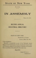 Second annual industrial directory of New York State 1913 / compiled and published under the direction of James M. Lynch