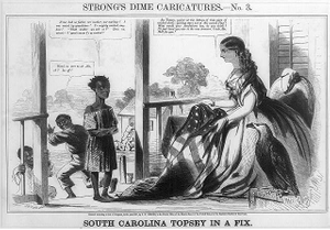 Strong's dime caricatures. No. 3, South Carolina Topsey in a fix