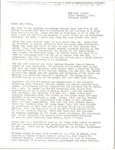 Letter from U. Z. Nunnally to Gloria Xifaras Clark