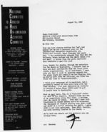 Letter: Los Angeles, California, to James Dombrowski, New Orleans, Louisiana, 1963 August 21