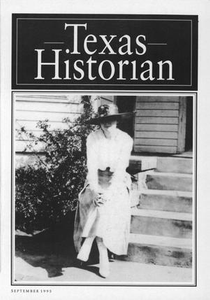 The Texas Historian, Volume 56, Number 1, September 1995 The Texas Historian