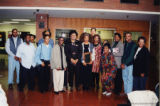 Terry McMillan pose with reading attendees
