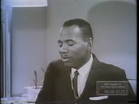 Series of WSB-TV newsfilm clips of James Meredith discussing his attempts to enroll as the first African American at the University of Mississippi, sometime in 1962