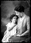 Mrs. E. P. Shaw and Daughter [from envelope?] [acetate film black-and-white photonegative, ca. 1930.]