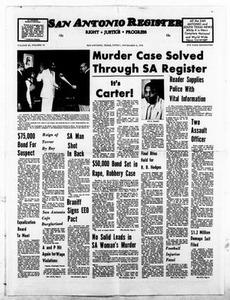 San Antonio Register (San Antonio, Tex.), Vol. 45, No. 30, Ed. 1 Friday, November 5, 1976 San Antonio Register