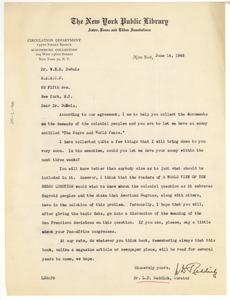 Letter from L. A. Reddick to W. E. B. Du Bois