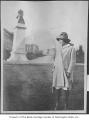 Woman on University of Washington campus, Seattle, 1910