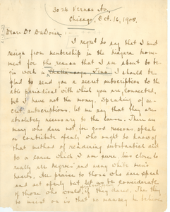 Letter from David R. Wallace to W. E. B. Du Bois