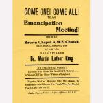Emancipation meeting flyer