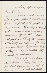 Letter from Oliver Johnson, New York, [N.Y.], to William Lloyd Garrison, April 29 [1862]