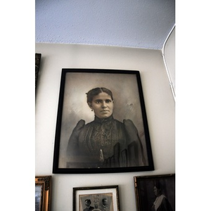 Portrait of a woman on Reverend Chauncy Moore's wall