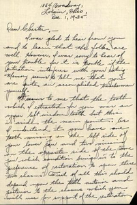 Letter to Chester Franklin