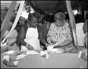 """[African-American """"Soul Food"""" Booth] 7th Annual Texas Folklife Festival"""