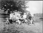 Secretary Langley with Children