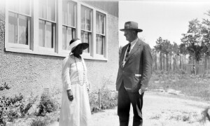 Mr. C. T. Loram and Virginia Randolph at Henrico County Training School