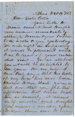 Thomas R.R. Cobb family letters, 1849-1857