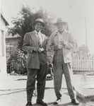 Bedford and Forrest Pinkard at home, 405 East Second St., Oxnard : 1947 ; Bedford Pinkard later became the first African-American elected official in the tri-counties with his election to Oxnard Union High School District Board in 1973