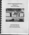 Durham's Chapel School: historic structure report