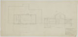 Additions and Alterations to Como Golf Club House, Second Floor Plan and Cross Section