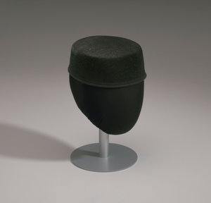 Black hat form from Mae's Millinery Shop