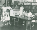Quincy branch library, Cleveland, Ohio: children's room, summer reading club, 1953
