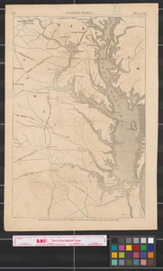 Map of part of Maryland and Virginia : showing the probable theatre of the war