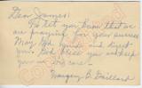 """Margery B. Gaillard to """"Dear James"""" (28 September 1962)"""