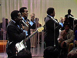 "Curtis Mayfield and The Impressions perform ""We're A Winner"""