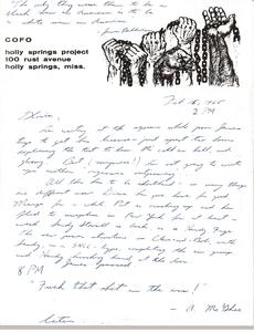 Letter from Ken Scudder to Gloria Xifaras Clark