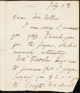 Letter from Harriet Martineau to John Bishop Estlin