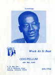 Advertising flyer for Banning, California contractor, Odis Pellum