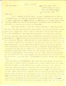 Letter from Johann von Leers to unidentified correspondent
