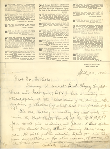 Letter from Robert T. Kerlin to W. E. B. Du Bois