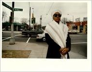 Ashby Street, View of Ashby Street and the Organizer of the Proposal to Rename the Street Malcolm X Boulevard, December 10, 1992