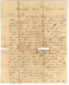 [Letter from Edward S. Burch to his sister, Sarah Zimmerman, March 1860]