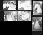 Set of negatives by Clinton Wright of John Moore's wedding, 1965