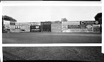 [Advertisements on baseball field outfield walls, probably Griffith Stadium] [panoramic cellulose acetate photonegative]