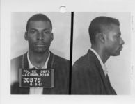 Mississippi State Sovereignty Commission photograph of Travis O. Britt following his arrest for his participation in the Freedom Rides, Jackson, Mississippi, 1961 June 8