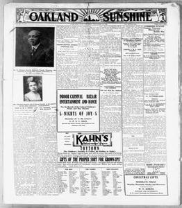 Oakland Sunshine (Oakland, Calif.), Vol. 24, No. 31, Ed. 1 Saturday, December 18, 1920 Oakland Sunshine