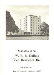 W. E. B. Du Bois residence hall dedication program