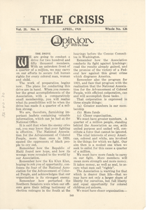 Opinion of W. E. B. Du Bois