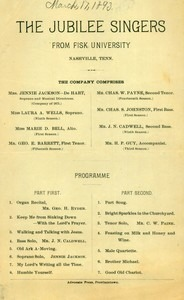 Jubilee Singers (March 17, 1893)