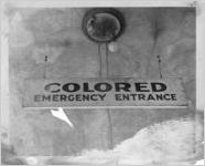 Segregated emergency entrance sign