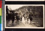 Missionaries going on a picnic, Shaoxing, Zhejiang, China, ca.1930-1940