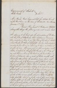 Court documents relating to the sale of runaway slave: Anthony, belonging to Peter Ideley of Adams County, Miss., Shelby County, Ky.
