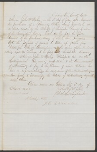 Court documents relating to the sale of runaway slave: Jeremiah, to John Mathis, Livingston County, Ky.