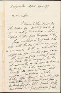 Letter from F. J. Thompson, Bridgwater, [England], to William Lloyd Garrison, April 30, 1877