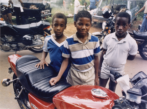 Three Boys and a Bike, from the Black Biker Series